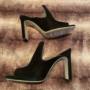 Nordstrom Signature Celia Sandal Black Suede Mules